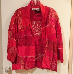 Vintage Chico's Embroidered Women's Jacket size 2